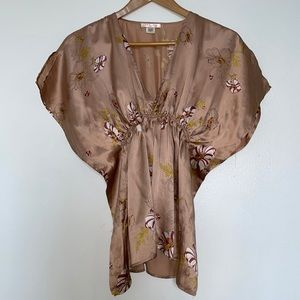 """Urban Outfitters """"Lux"""" Silk Floral Top Size S"""